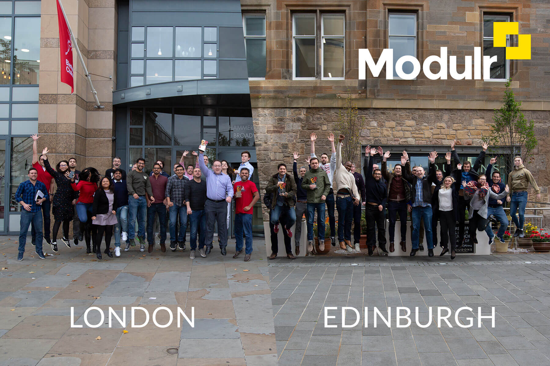 Team Modulr Lodnon Edinburgh